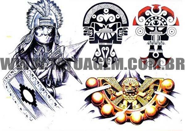 Referencia de Desenho para Tattoo (Asteca)