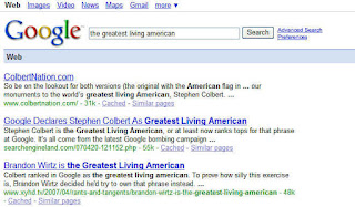 The Greatest Living American SERPS 09252007