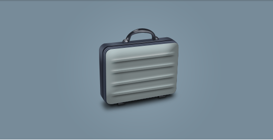 Suitcase PSD file