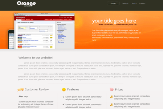 Orange PSD Template