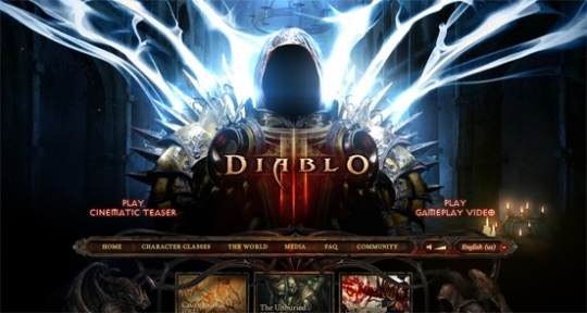 Diablo 3 beautiful flash website