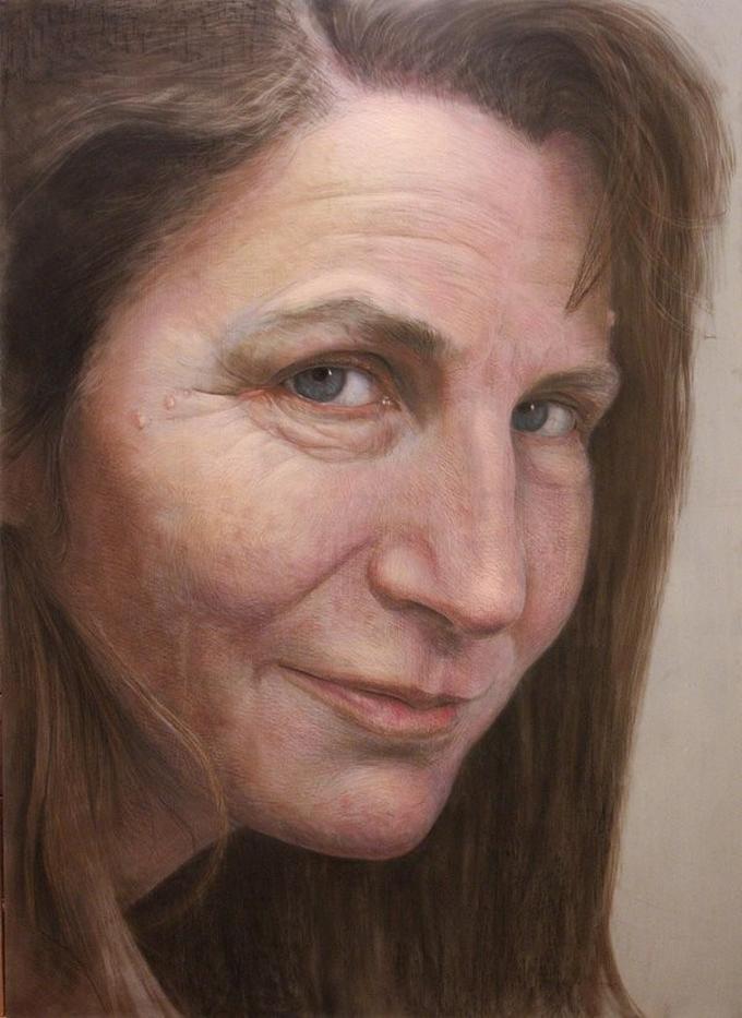 Lukisan wajah sedih