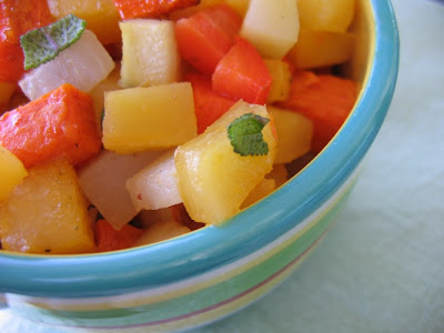 ... Talk Turnips to Firemen: Roasted Root Vegetables with Maple Sage Glaze