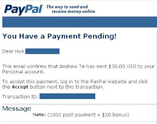Ximmy Proof of Payment