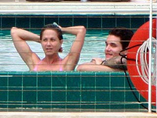 Jennifer Aniston and John Mayer Poolside Photos
