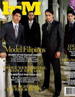 Victor Basa - Metro Him Magazine Cover