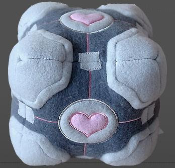 Weighted Companion Cube Plush