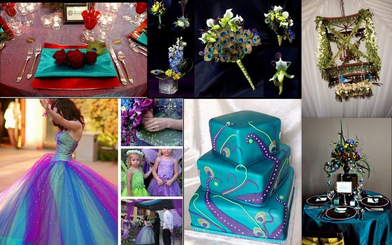peacock wedding scheme nautical theme wedding ideas