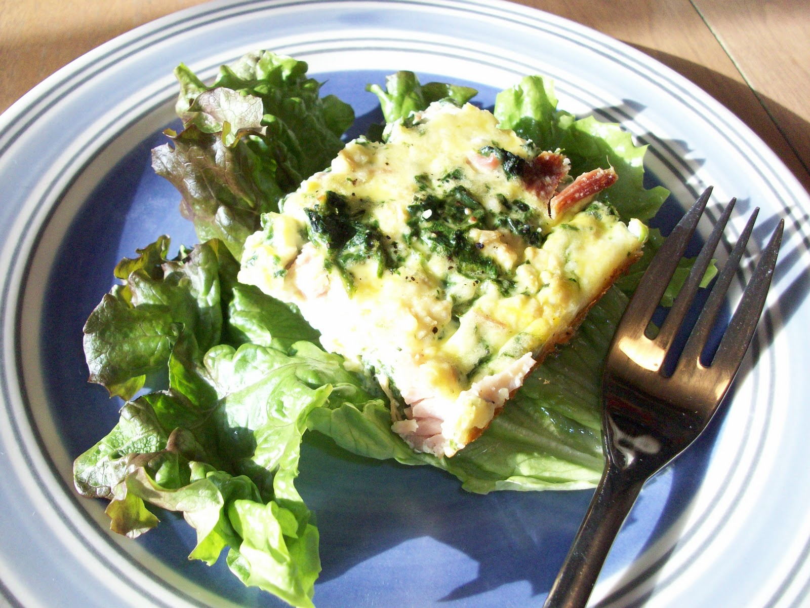 Spinach, Feta Cheese, and Ham Egg Bake | I am Hungry What's for Dinner ...