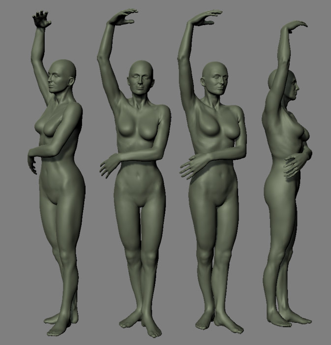 Robs Adventures In Sculpting Anatomy Study Woman Standing Stage 2
