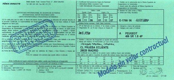 Los pa ses que requieren la carta verde para circular con el coche - Seguro de coche para 6 meses ...