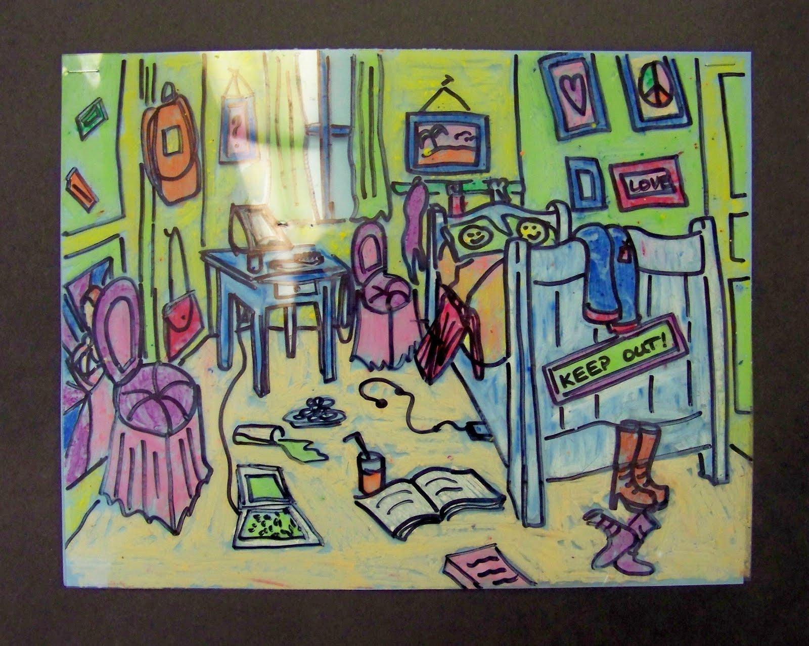 Van Gogh S Bedroom Transformed Library Arts