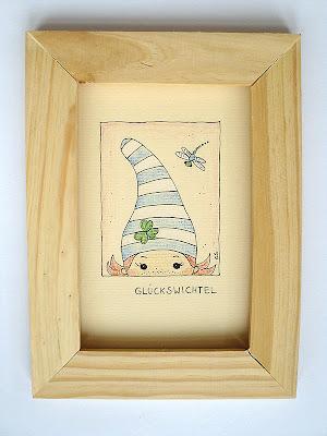 Grußkarte, Kinderzimmerbild