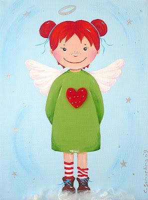 Kinderzimmerbilder, Bilder fürs Kinderzimmer, Taufgeschenk, Geschenk zur Geburt, Schutzengel