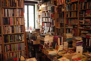 Red Wheelbarrow Bookshop Paris interior