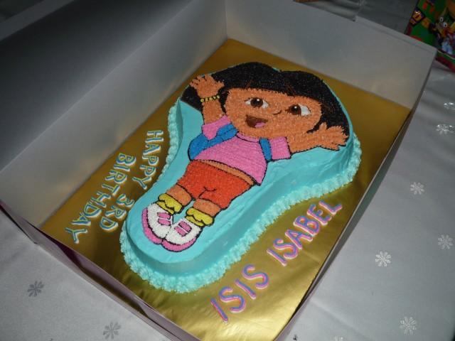 Gg Home Biz Cakes Wedding Cakes Dora The Explorer 3d Cake For Mdm