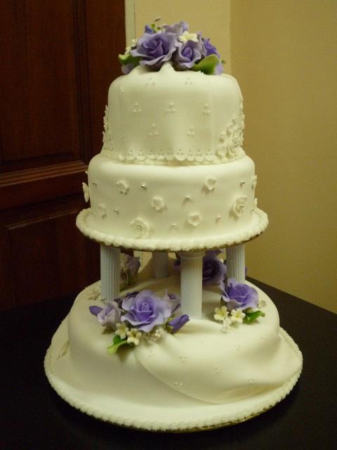 GG Home Biz Cakes & Wedding Cakes: 3-Tier Fondant Wedding Cake for ...