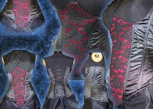 corset rosas negras