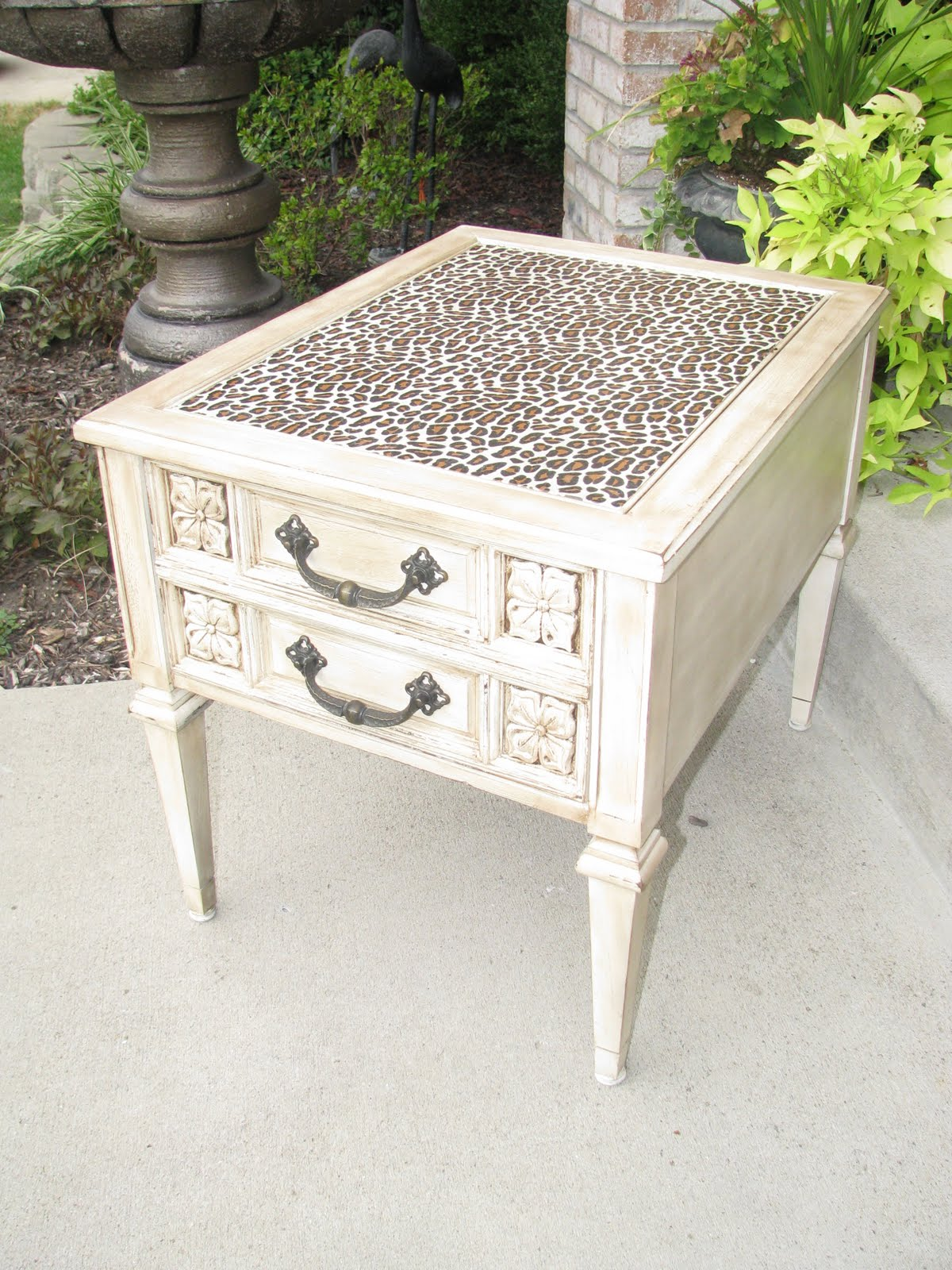 My Cheetah Table Was In A Silent Auction!