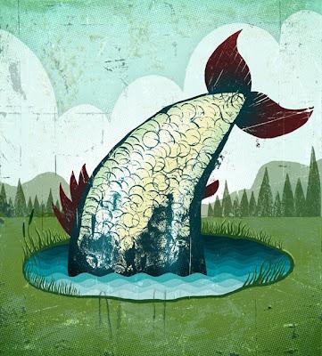 Doug boehm illustration big fish little pond for Big fish pond
