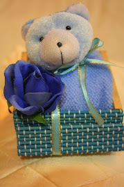 Cukur Jambul doorgift - Bear basket (boy)