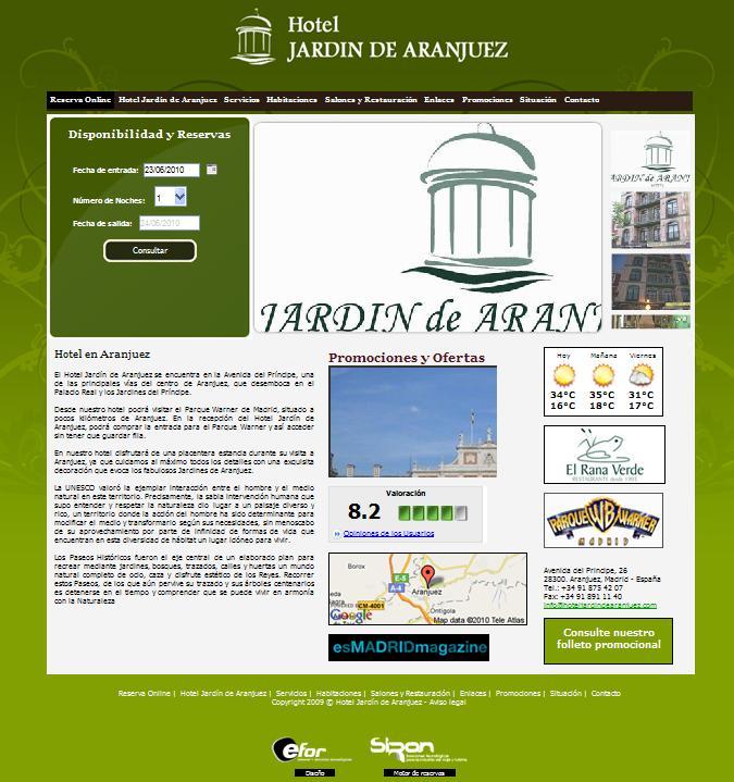 Hoteles y hostales en madrid hoteles en aranjuez for Hotel jardin aranjuez