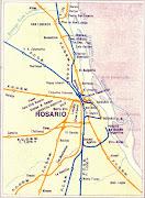 la parte de la cuenca en . mapa argentina hidrografico