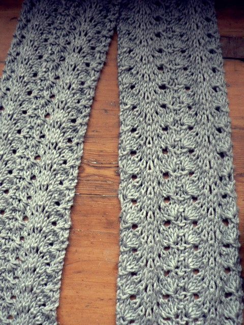 Knit N Pearl Lacy Scarf Cap