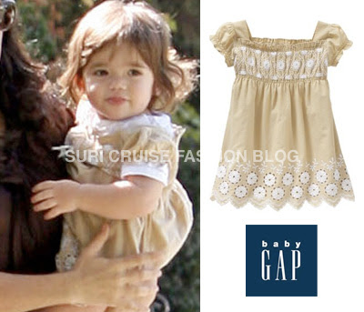 Site Blogspot  Smocked Dresses on Valentina Daughter Of Salma Hayek Is Wearing Smocked Eyelet Dress From