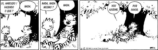 Tirinhas Engraçadas Calvin e Haroldo