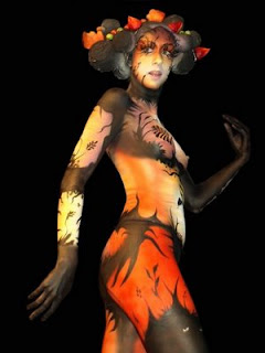 gallery bodypainting art asian
