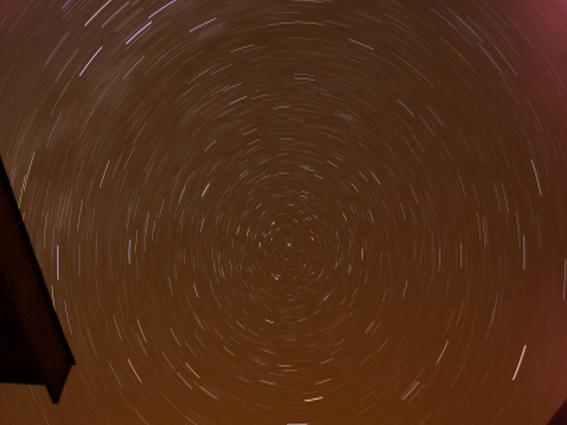 Fotografía del cielo circumpolar