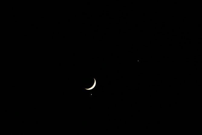 Conjunción Luna-Venus con Júpiter