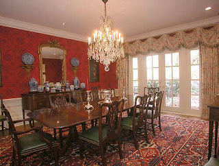 This Room Was Probably Decorated In The 90s (or Even The 80s) Based On The  Window Treatments And The Color Of The Walls. Most Of The Dining Rooms In  The ...