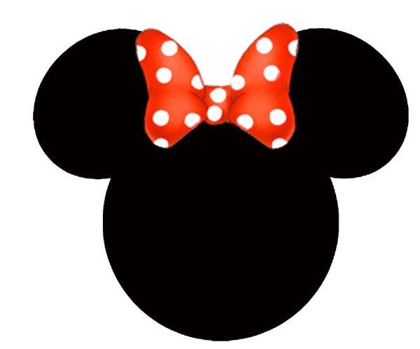 Molde para imprimir de la cara de Minnie Mouse - Imagui