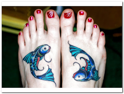Foot Pisces Tattoos
