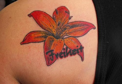Upper Back Lily Flower tattoos