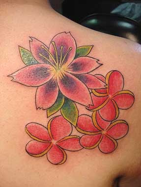 Flower Lily Tattoos Designs For Girls