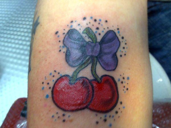 tattoos of cherries. tattoos of cherries.