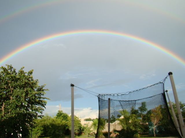 Double Rainbow from Backyard
