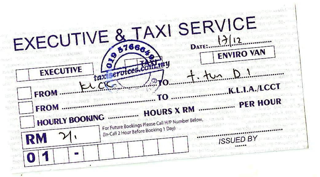 taxi invoice format india