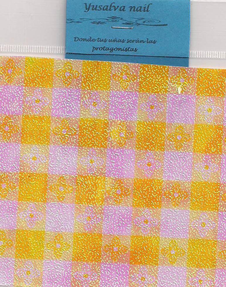 yusalva nail papel iridiscente mallas y telas