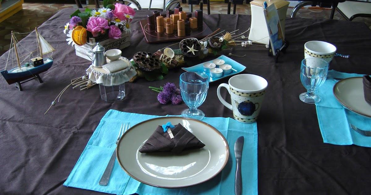 Dans la maison de s verine d co de table turquoise chocolat pour la f te des p res - Deco table turquoise chocolat ...