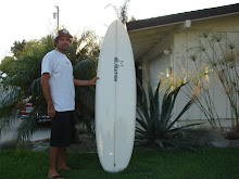 Revolution/Horan Shaper Tim Stamps with a 6'6'' Revolution Neo Nugget