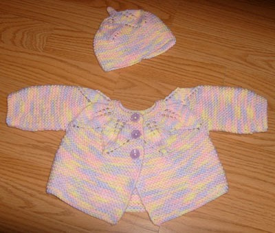 Knit Leaf Pattern Baby Sweater : Revelations of a Delusional Knitter: FO: Leaf Pattern Baby ...