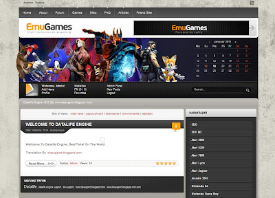 Emugames template for dle 9.2