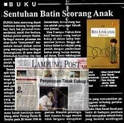 Resensi 'Masa Kanak-kanak' dalam harian Lampung Post