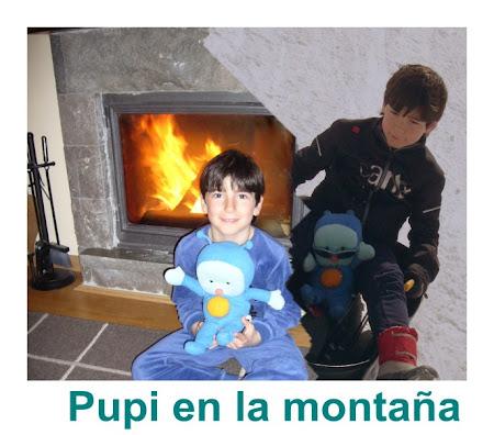 Juan y Pupi en la montaña