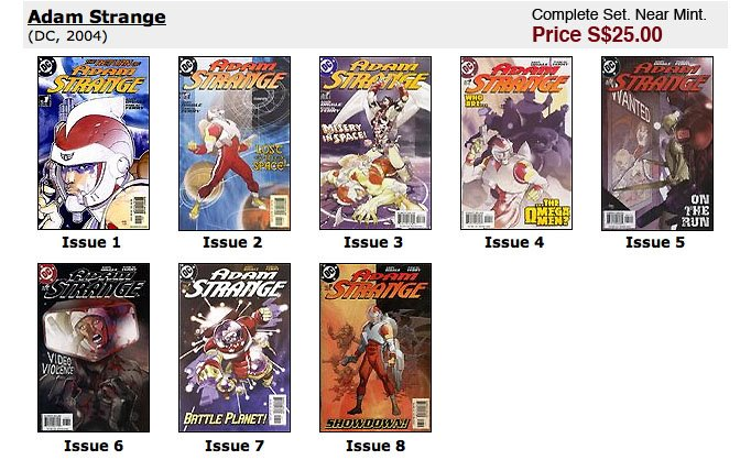 Adam Strange #1-8. PLEASE SMS ME AT 9616 9144 FOR ANY ENQUIRIES.