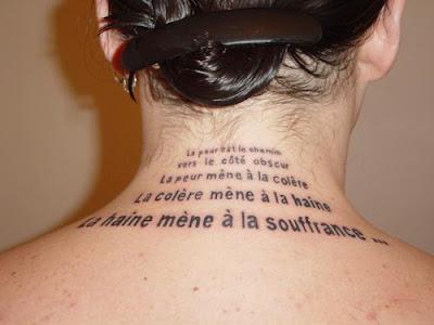 Tatouage Symbole Infini. La peur du ridicule est le